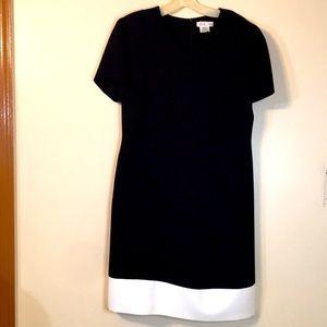 TALBOTS classy black and white dress
